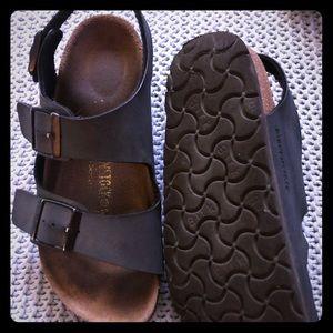 Birkenstock's Kids Blue Suede Sandals